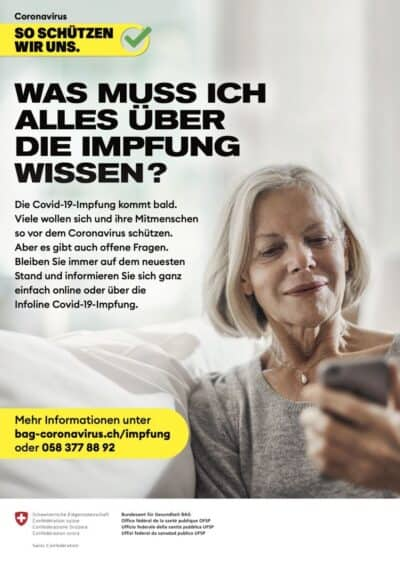 Info Poster BAG Impfung deutsch