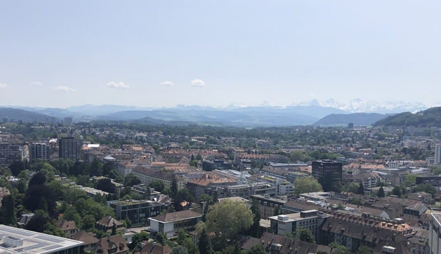 Bern Blick Vom Inselspital