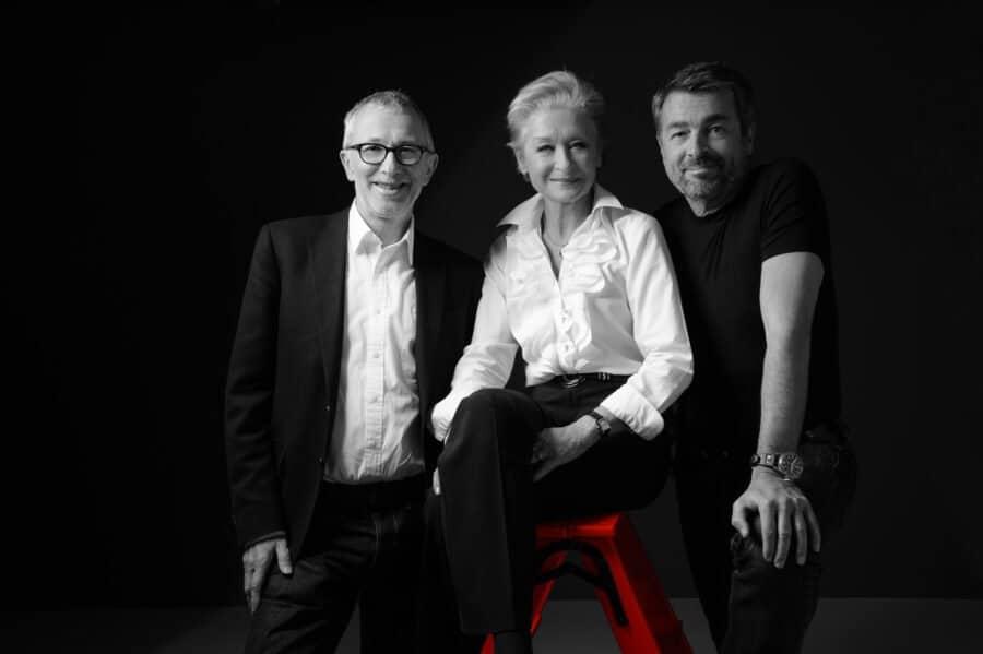 Kampagnenbotschafter Peter Rothenbühler,Heidi Maria Glössner und Stefan Gubser.