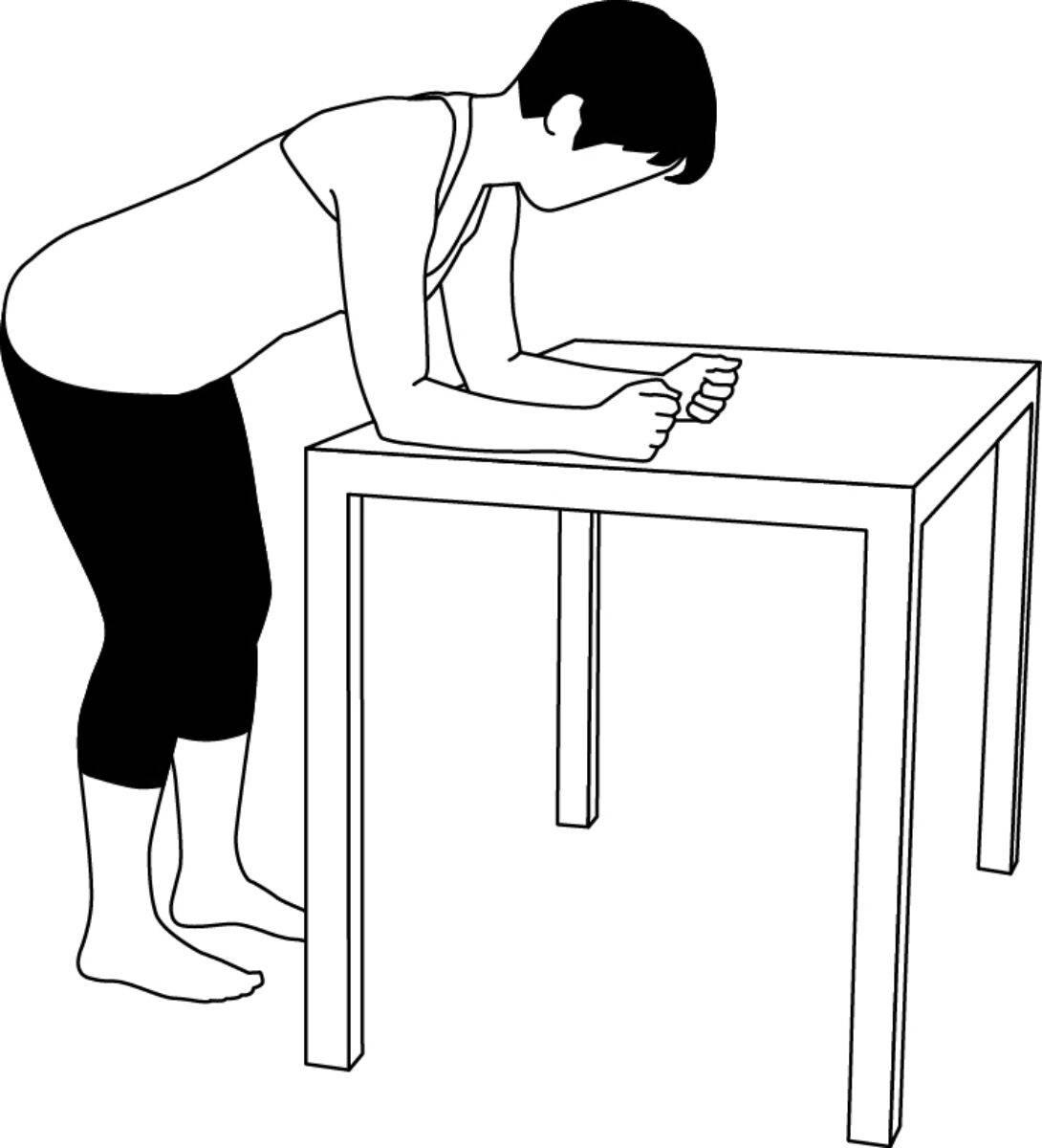 Schulter-Übung 3: Zur Aktivierung der Schultermuskulatur, Ausgangsstellung