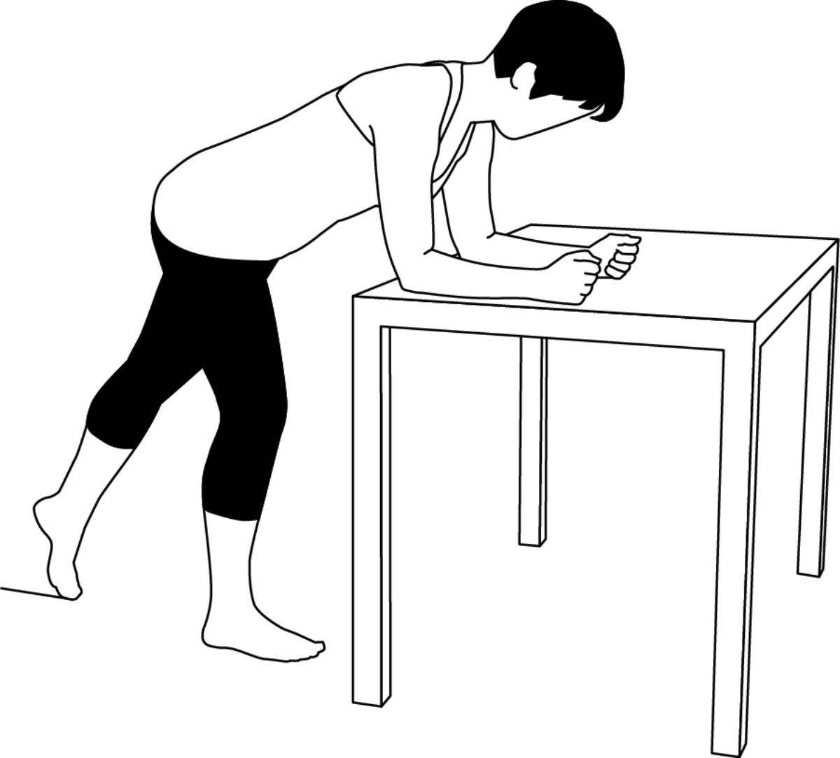 Schulter-Übung 3: Zur Aktivierung der Schultermuskulatur, Stellung 2