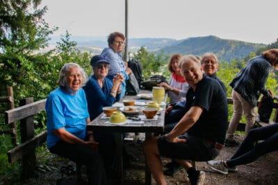 Pause in der Teehütte Fallätsche