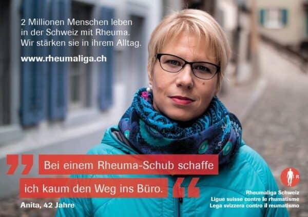 """Anita Fuellerinserat """"Ich und mein Rheuma"""""""