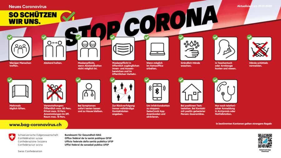 Plakat Stop Corona Nov 2020