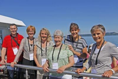 Une partie du comité, de gauche à droite : Dr Patric Kurmann - Dr Christiane Zenklusen - Corinne Chuard - Marie-Thérèse Paget - Isabelle Jeanfavre - Dr Françoise Crot