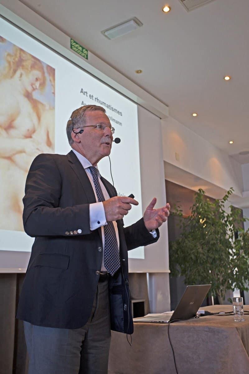Conférence passionnante du Prof. André Aeschlimann, rhumatologue et amateur d'art