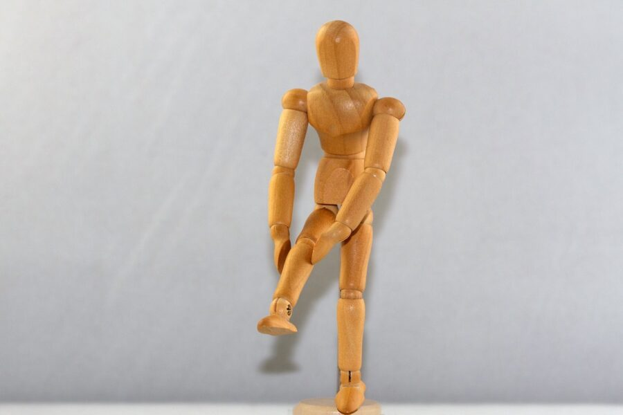 Foto Figur Knie