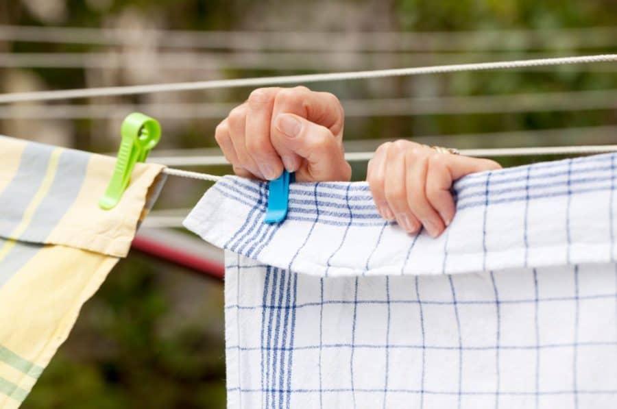 Gelenkschutz mit Wäscheklammern